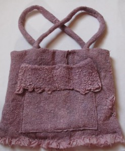 felt silk/wool bag