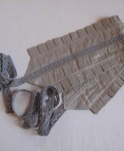 silk and cotton gray belt